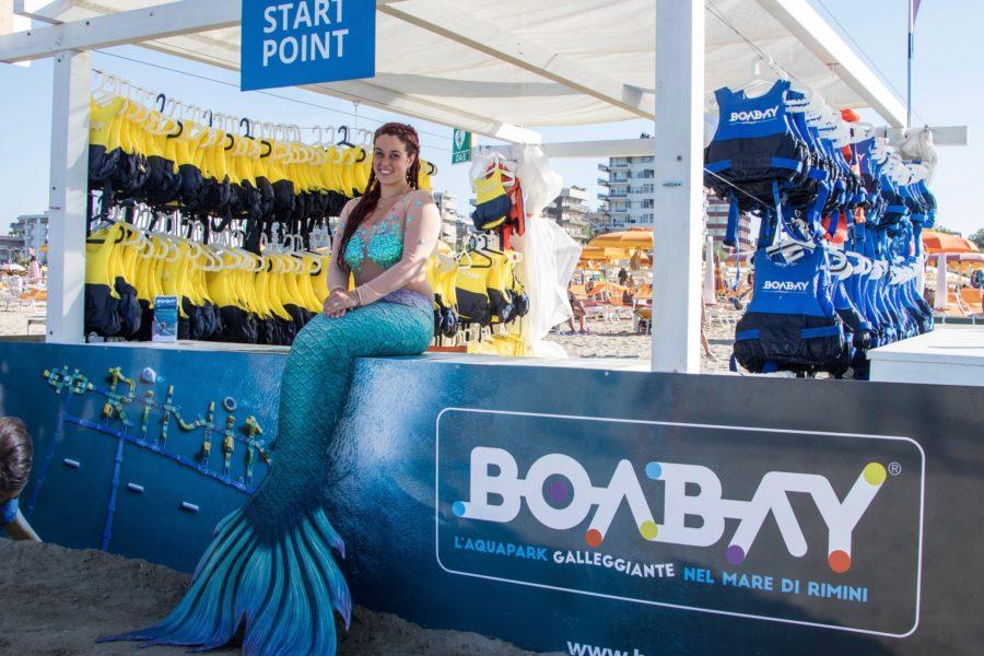 BoaBay, l'aquapark galleggiante nel mare di Rimini, ha trovato la sua Mermaid