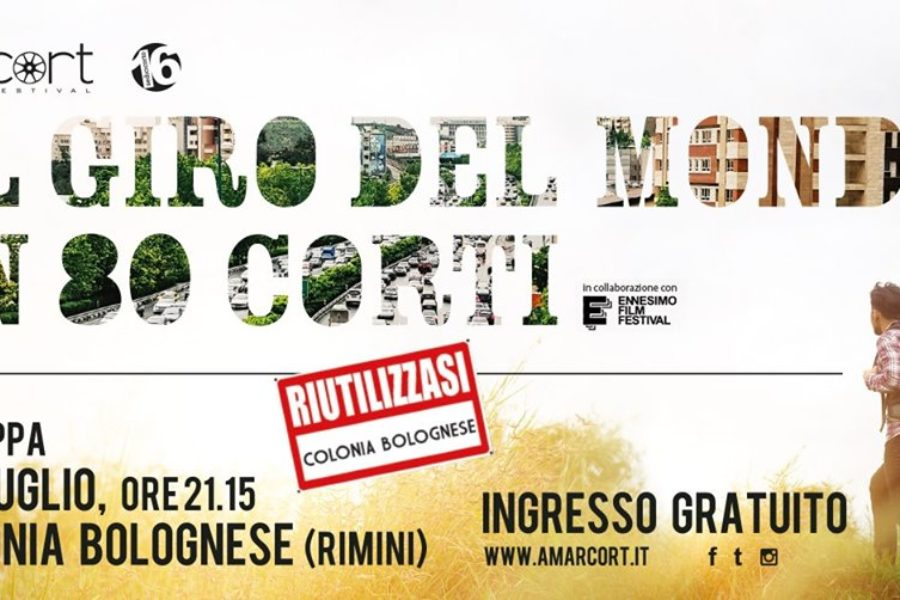 """Alla Colonia Bolognese due tappe de """"Il giro del mondo in 80 corti"""" organizzato da Amarcort Film Festival"""