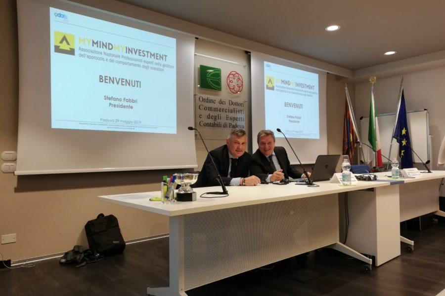 I riminesi Stefano Fabbri e Franco Bulgarini relatori a Bergamo al seminario di formazione sulla 'finanza comportamentale'