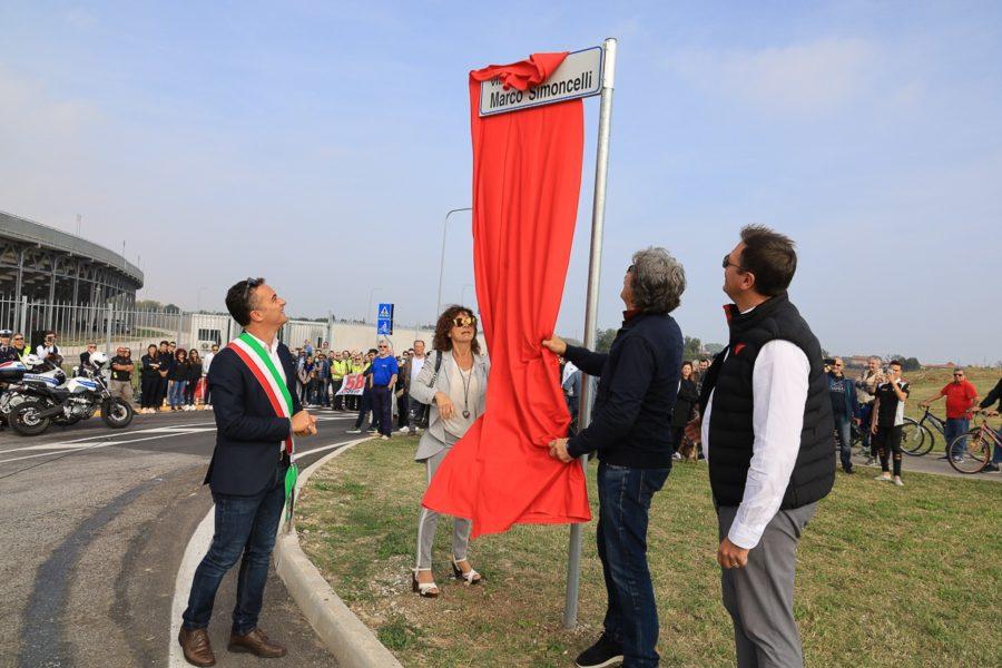 Misano: inaugurazione via Simoncelli