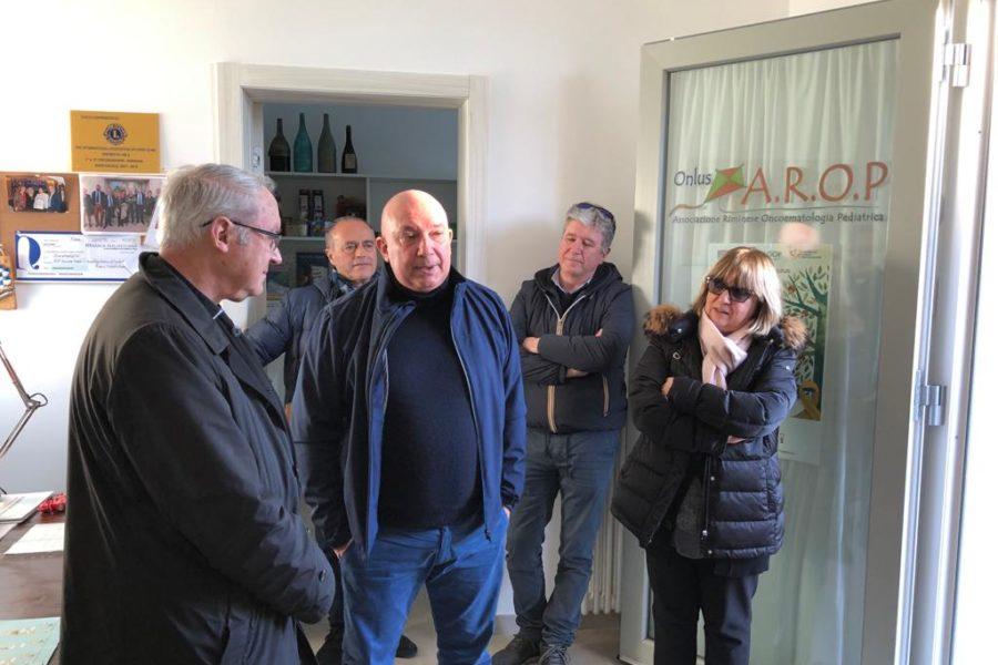Mons. Lambiasi in visita alla Casa Accoglienza A.R.O.P.