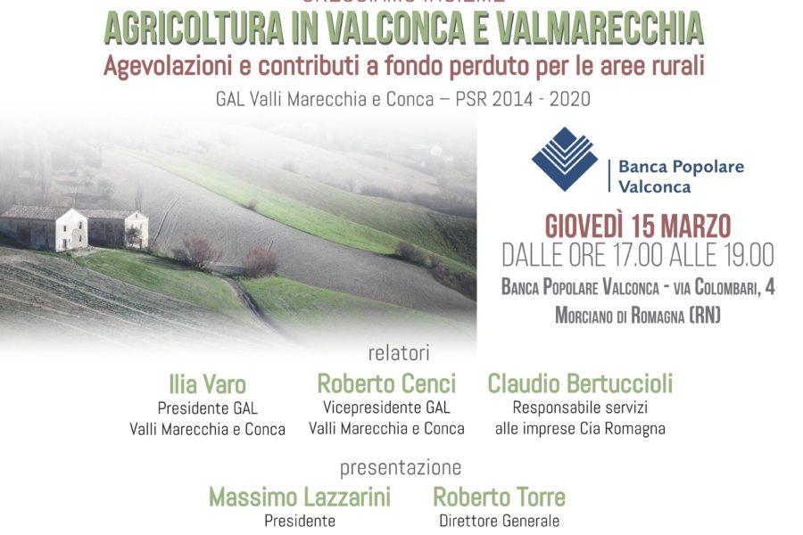 Convegno promosso da Banca Popolare Valconca – Agricoltura in Val Conca e Val Marecchia