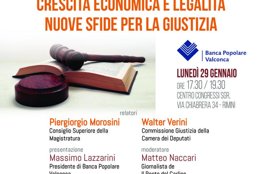 Convegno promosso da Banca Popolare Valconca – Crescita economica e legalità