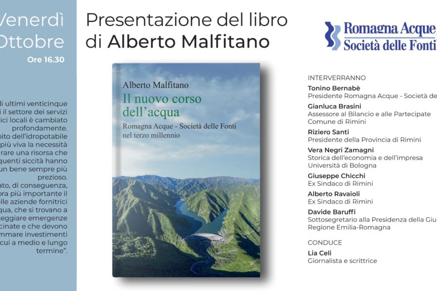 """""""Il nuovo corso dell'acqua"""" il libro che racconta la storia di Romagna Acque sarà presentato domani a Rimini"""
