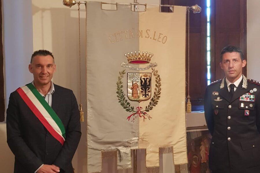 San Leo, visita del Colonnello Mario La Mura Comandante provinciale dei Carabinieri di Rimini