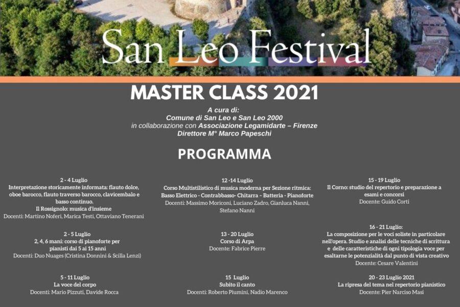 San Leo Festival, ultimi giorni per potersi iscrivere alla Master Class