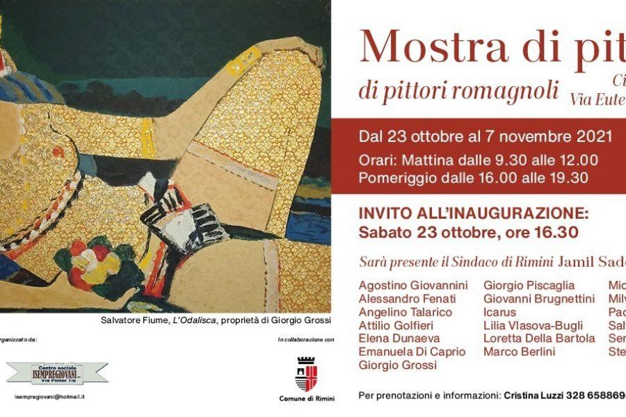 La mostra di pittura di pittori romagnoli inaugura sabato 23 ottobre alle 16.30   Cinema Astoria   Rimini